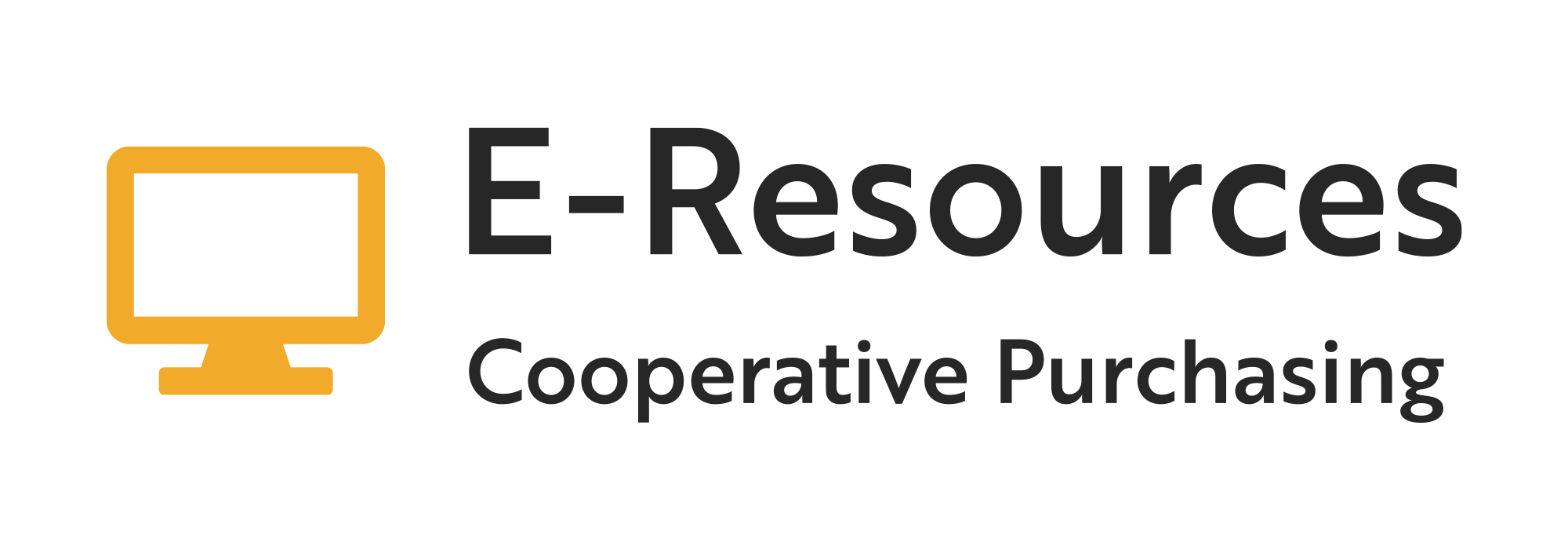 E-Resources: Cooperative Purchasing logo.