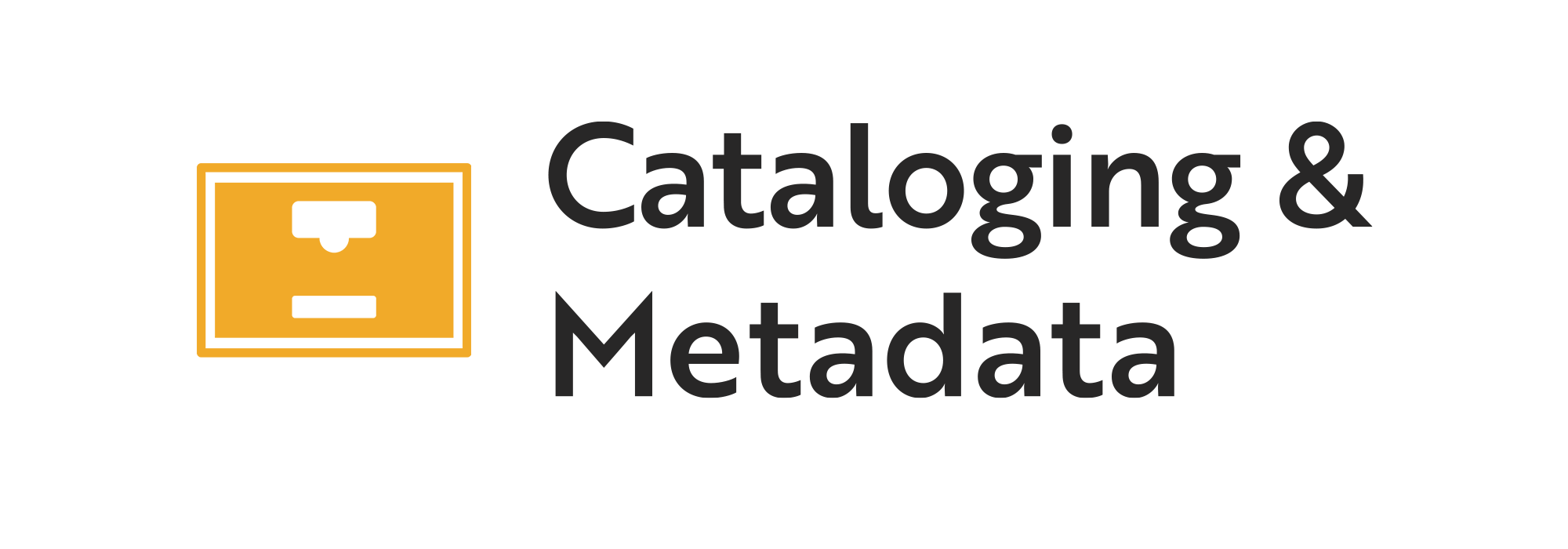 Cataloging & Metadata logo.