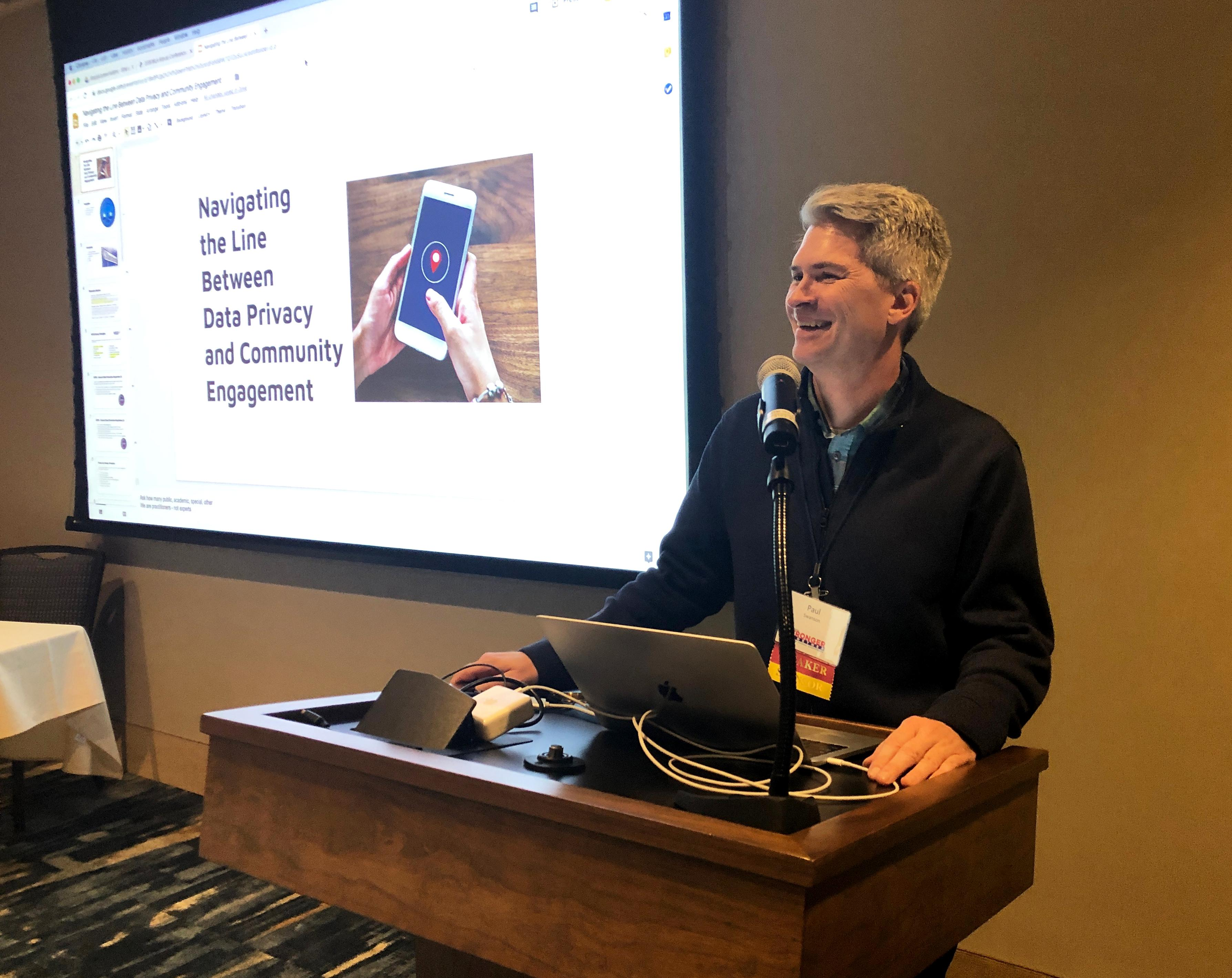 Paul Swanson at MLA 2019