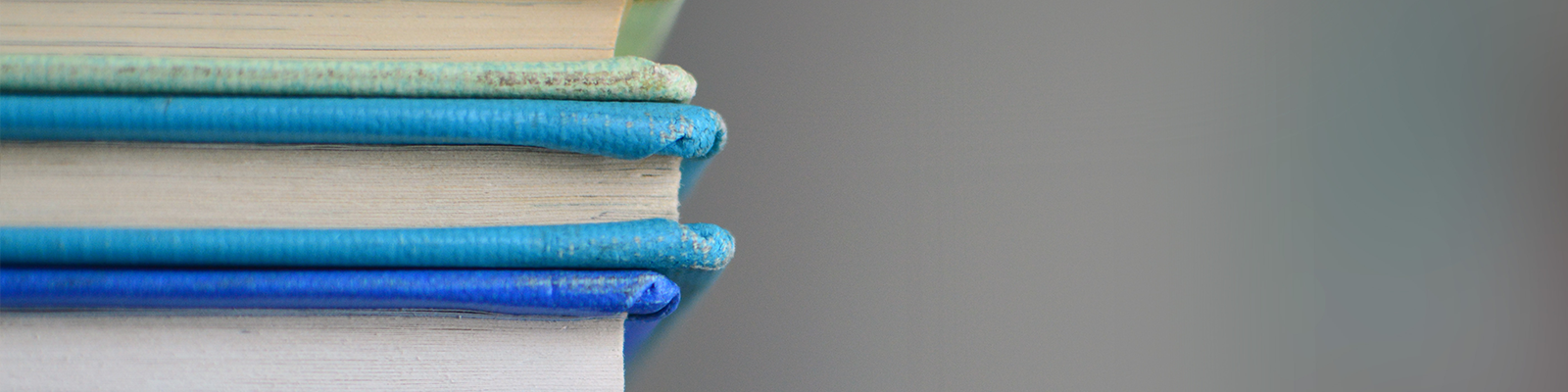 Stack of books header
