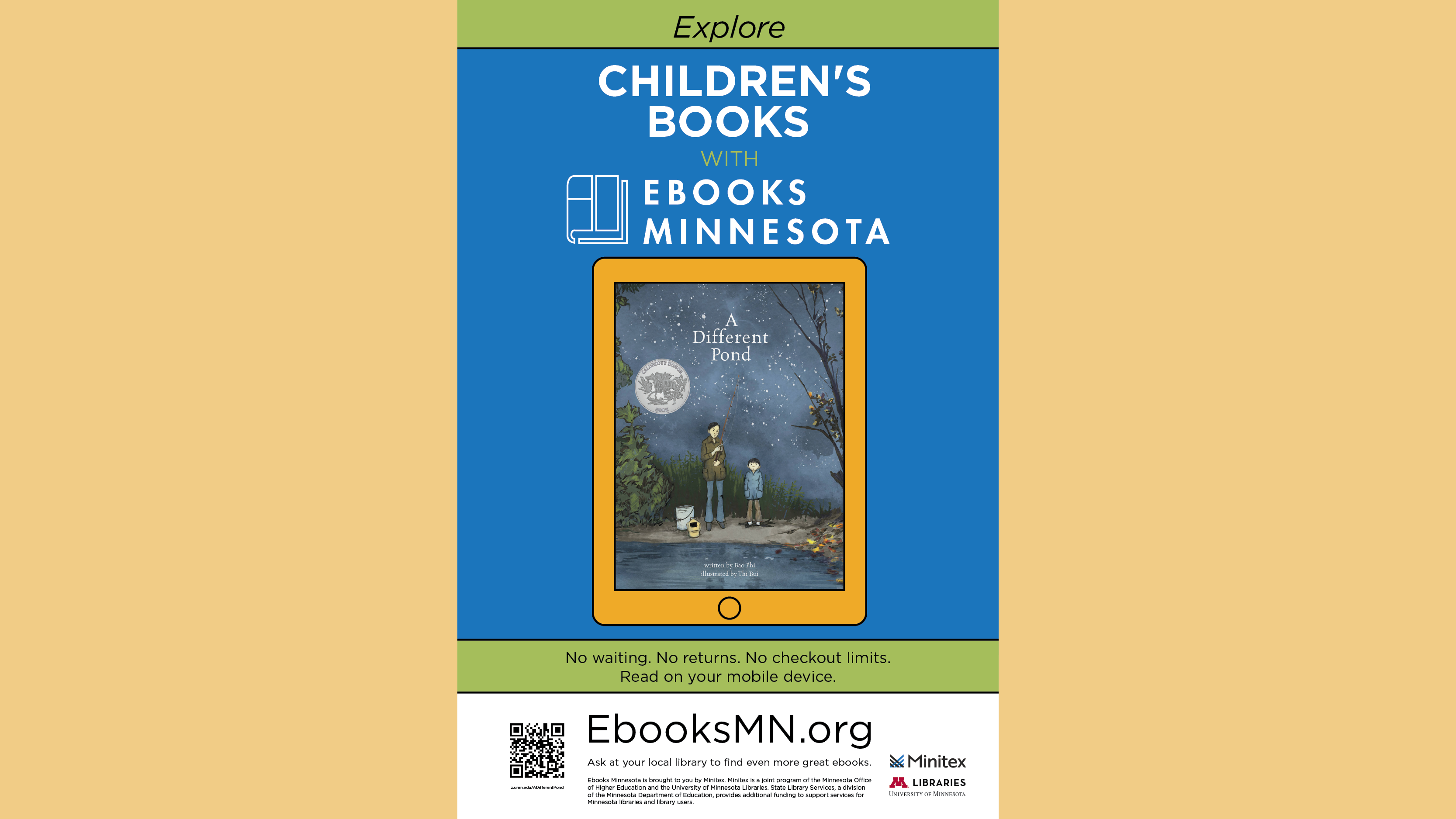 Ebooks Minnesota Poster - Children's Books