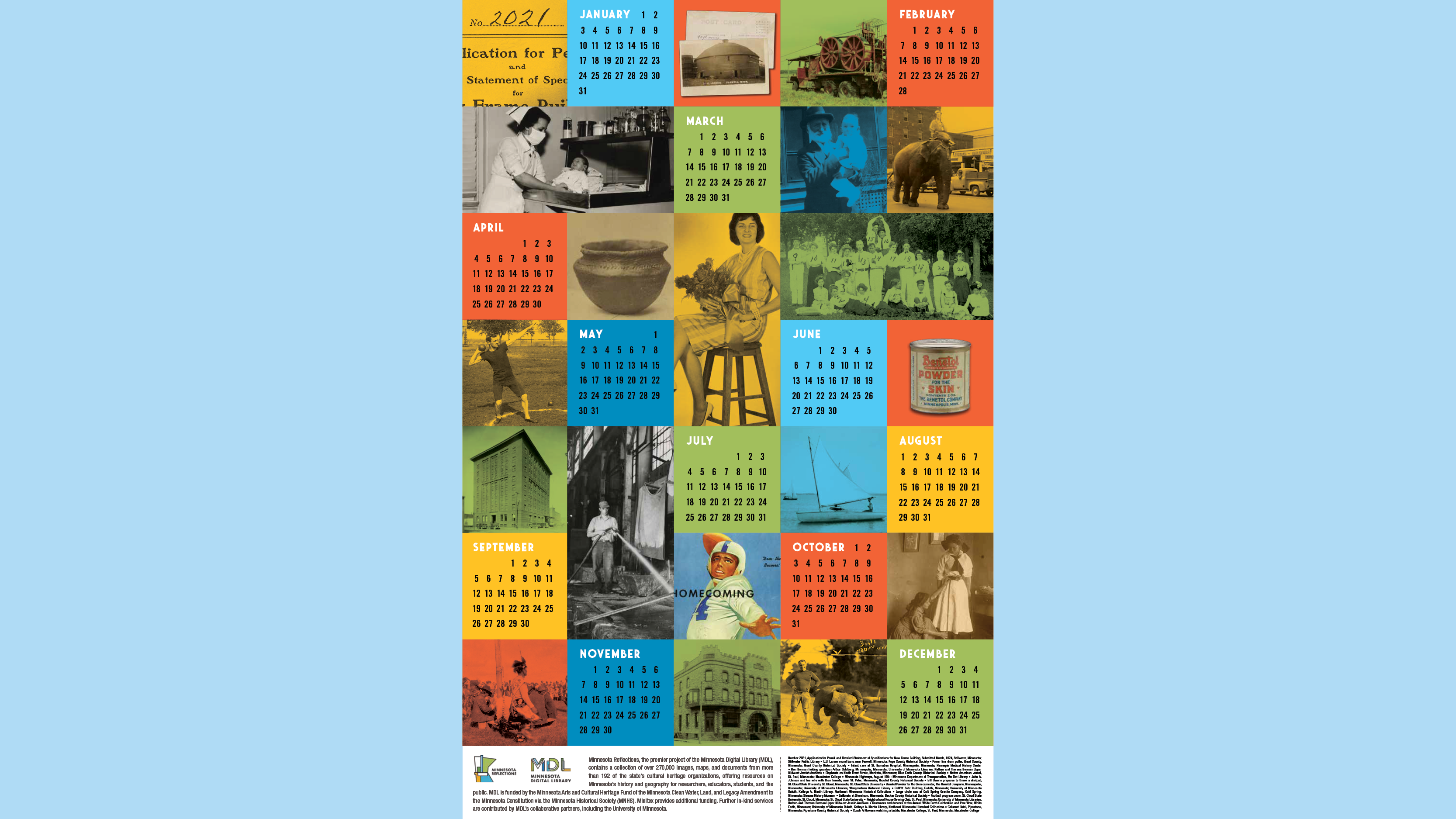Minnesota Digital Library 2021 Calendar