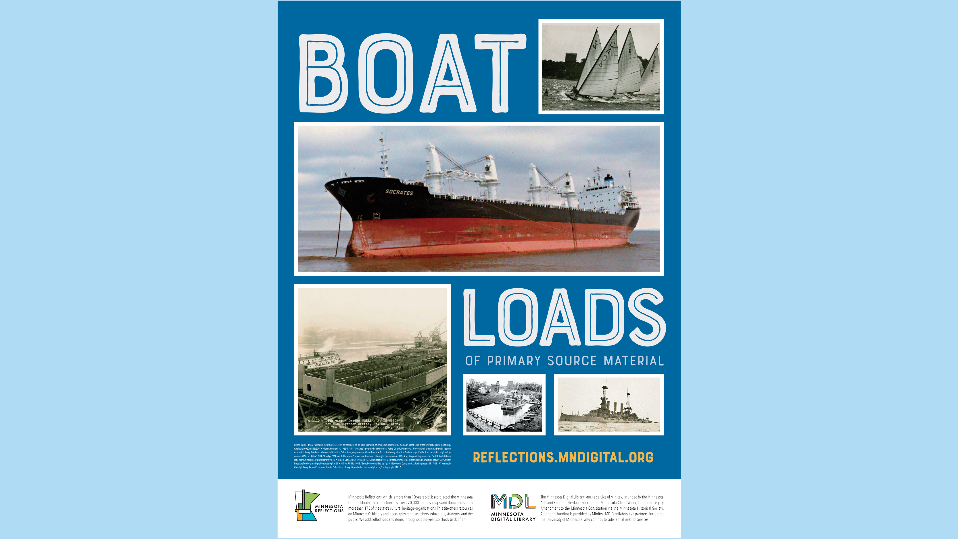 Minnesota Digital Library Poster – Boat Loads of Primary Source Material