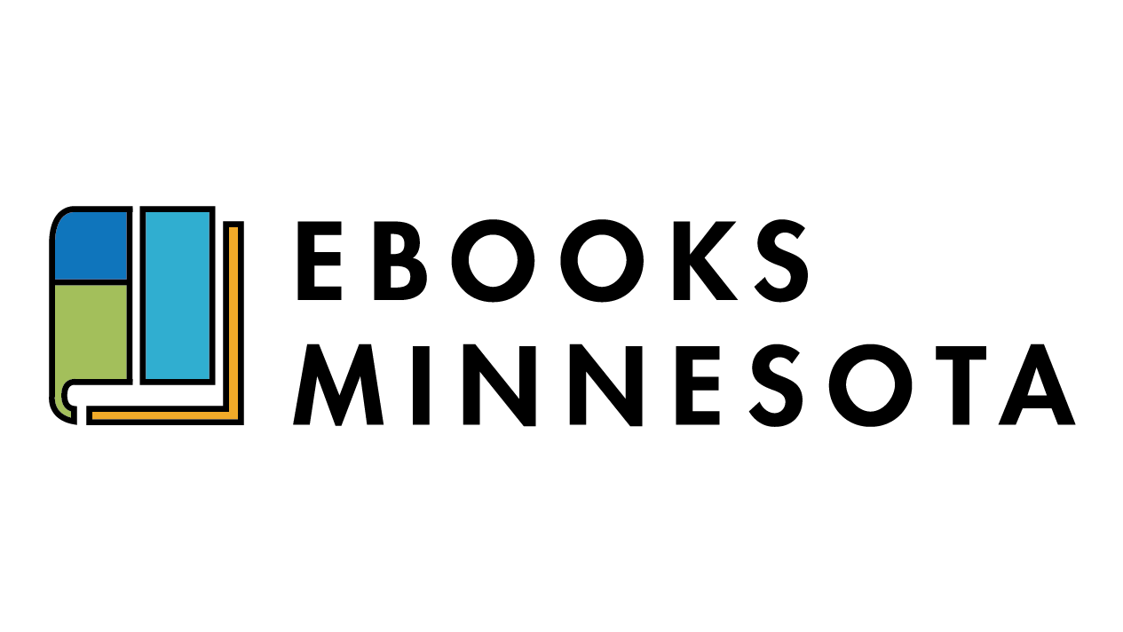 Ebooks Minnesota logo- a book