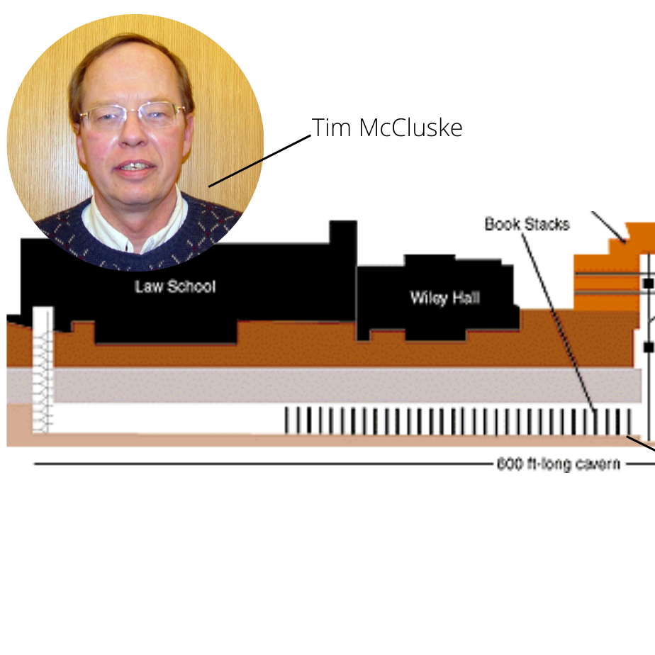 Blueprint image of MLAC with photo of Tim McCluske