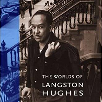 Image of Langston Hughes on front steps of a home in Harlem