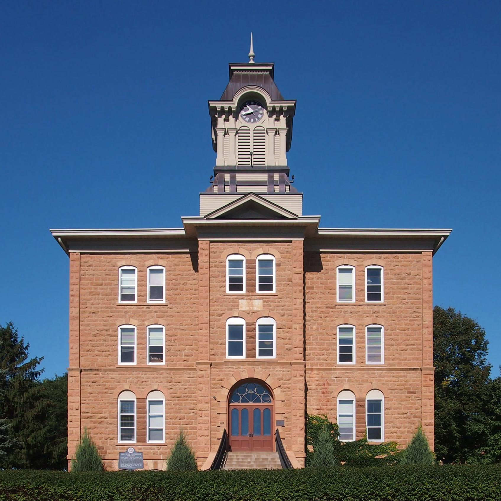 A photograph of Old Main at Gustavus Adolphus College.